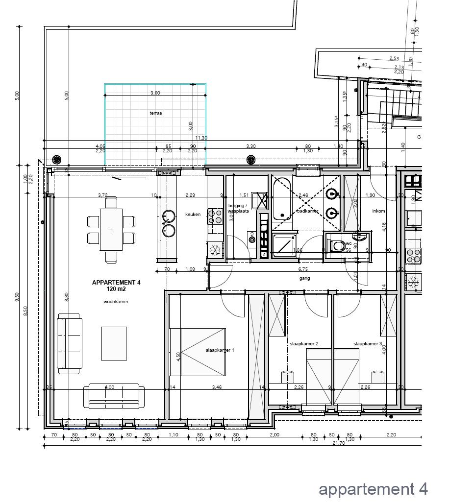 Residentie rosselaar for Grondplan badkamer